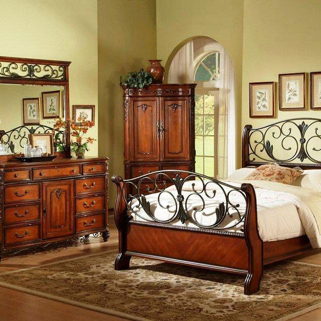 Tuscany Panel Bedroom Set Fairfax Home Furnishings ...