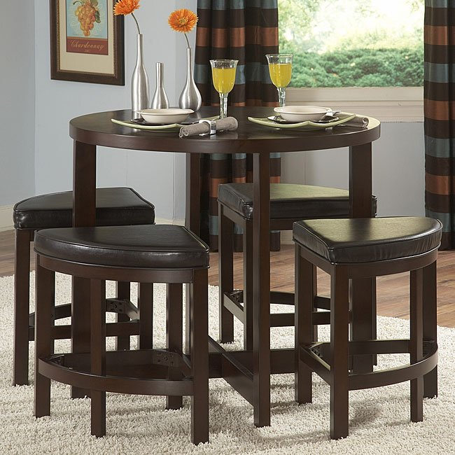 Excellent Brussel Ii Maine 5 Piece Counter Height Dinette Beutiful Home Inspiration Ommitmahrainfo