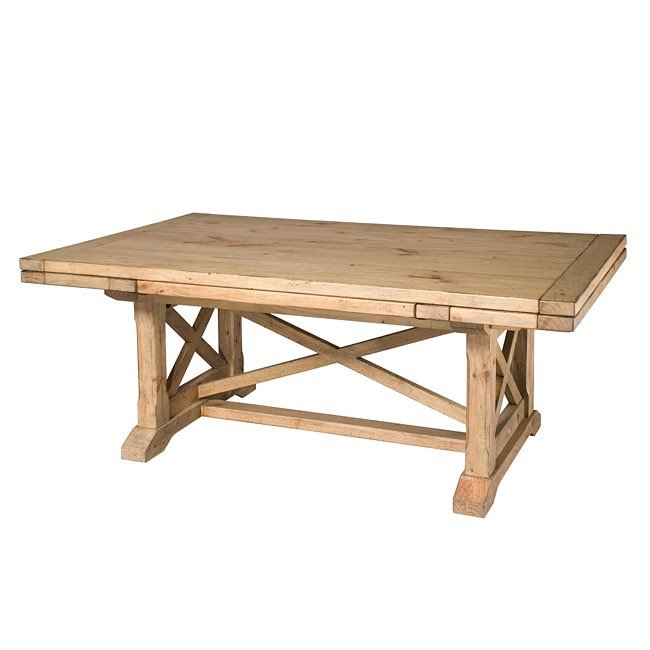 Homecoming Refectory Trestle Dining Table (Vintage Pine)