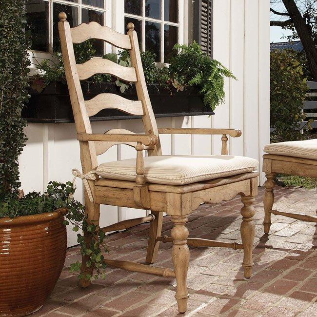 Homecoming Ladderback Arm Chair (Vintage Pine) (Set of 2)