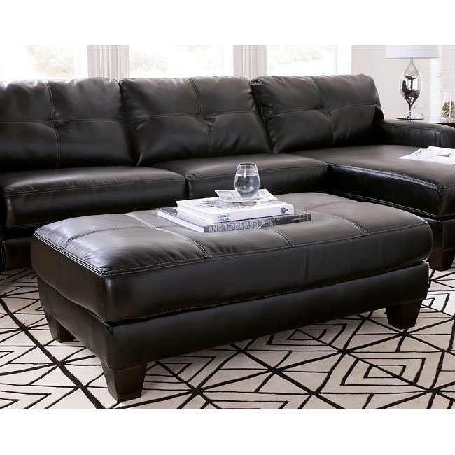 Stockholm - Black Oversized Accent Ottoman