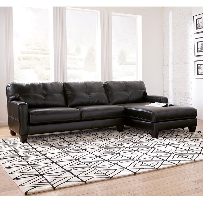 Stockholm - Black Right Corner Chaise Sectional