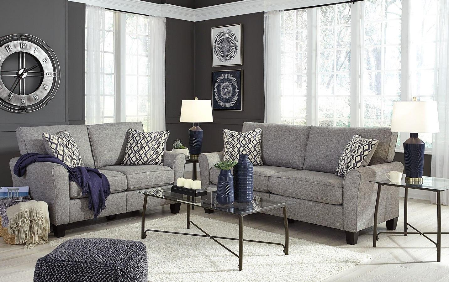 Strehela silver living room set signature design - Design of furniture for living room ...
