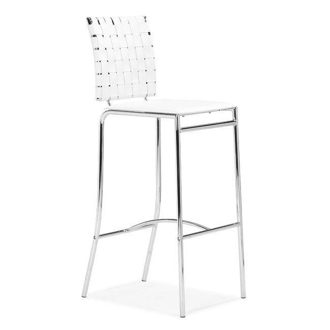 Criss Cross Bar Chair White Set Of 2 Zuo Modern