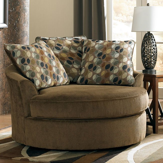 Kirkwood - Redwood Oversized Swivel Accent Chair
