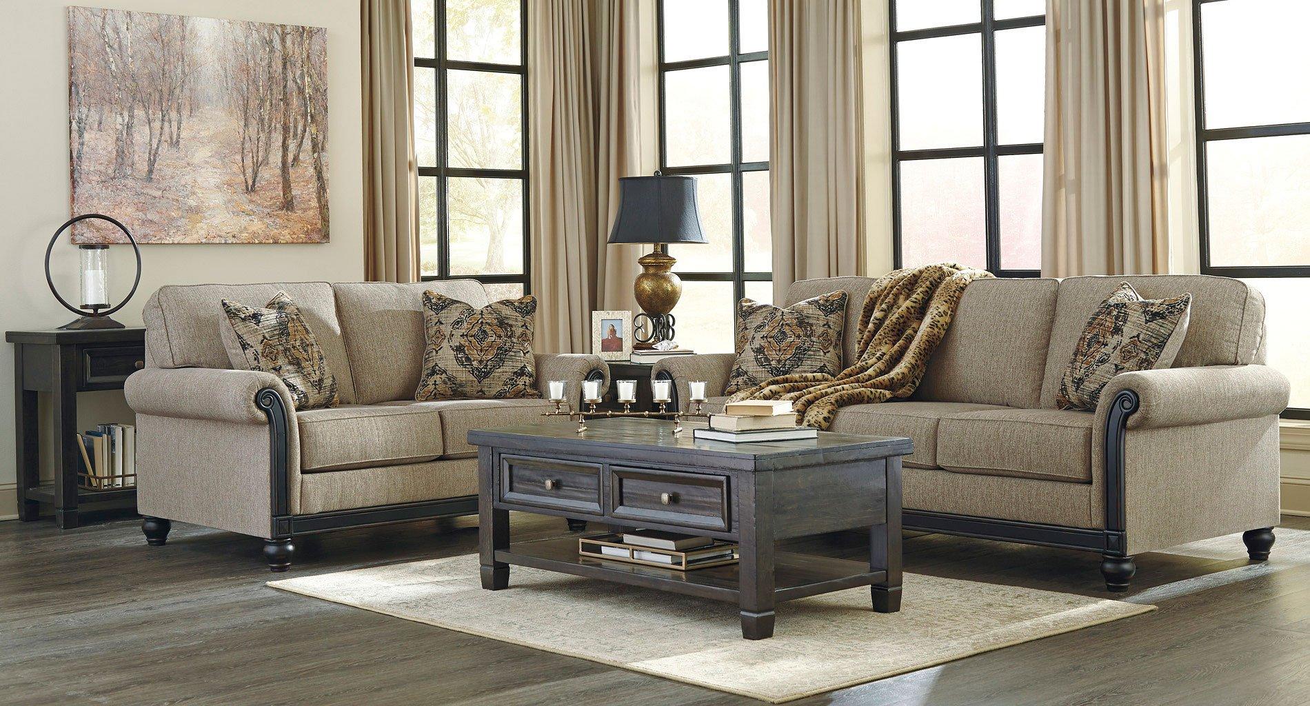 Blackwood Taupe Living Room Set Signature Design, 1 ...