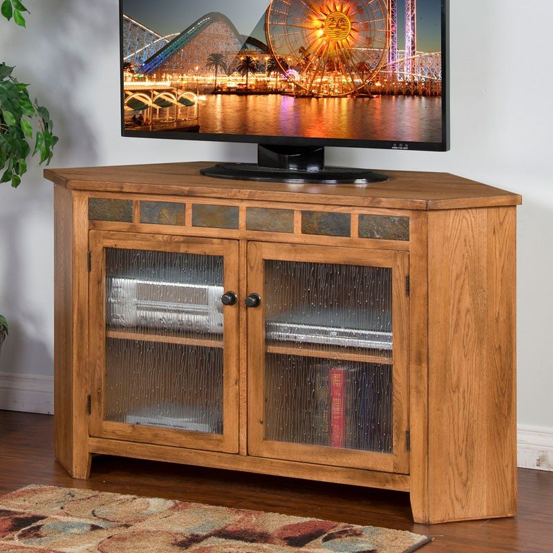 Sedona 55 Inch Corner Tv Console Sunny Designs Furniture