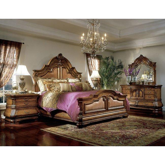 Tuscano Mansion Bedroom Set Aico Furniture   Furniture Cart