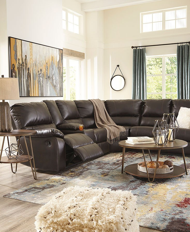 Warstein Chocolate Reclining Sectional Set Signature