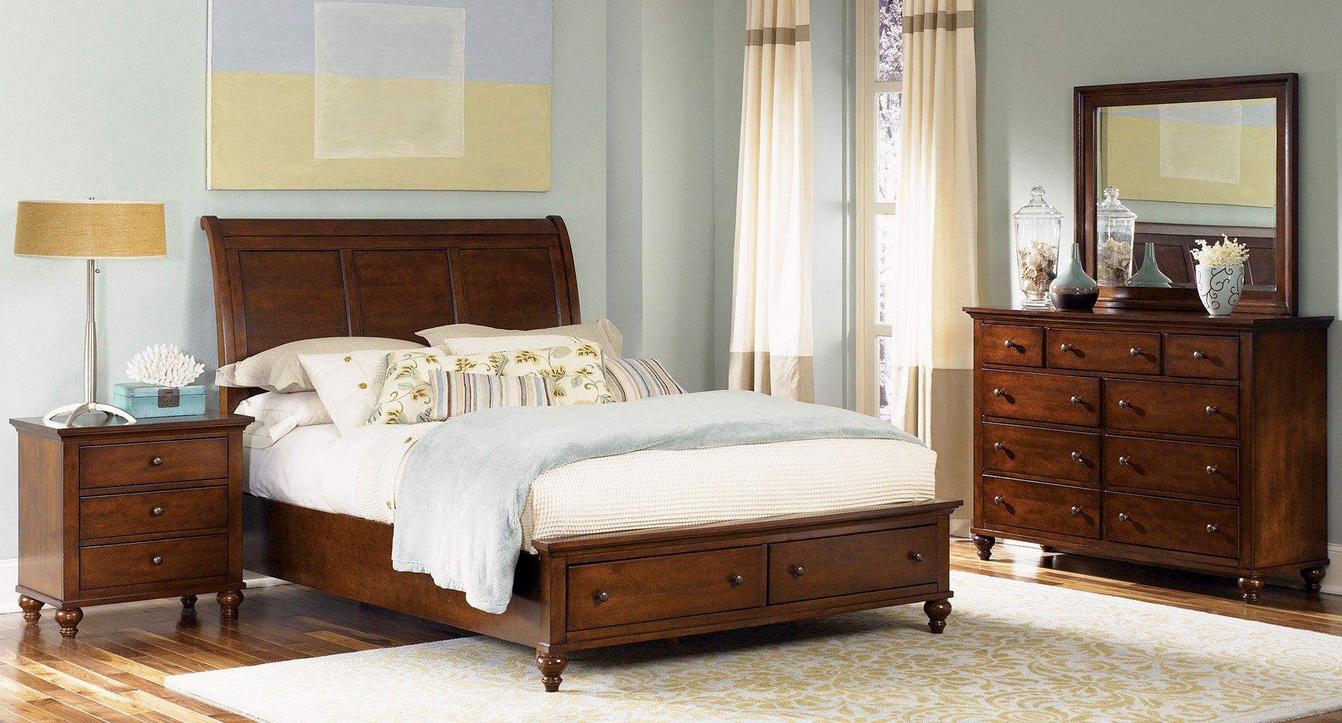 Hamilton queen storage bedroom set liberty furniture furniture cart for Queen bedroom furniture sets with storage
