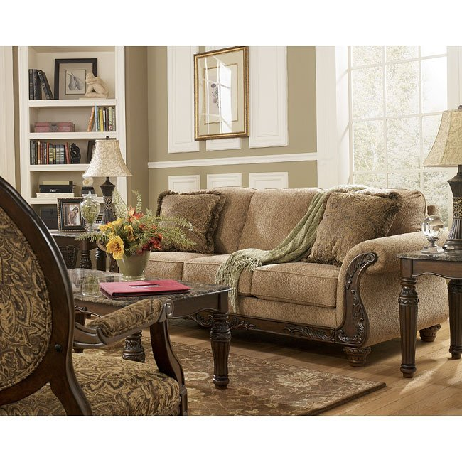 Cambridge Amber Sofa Signature Design Furniture Cart