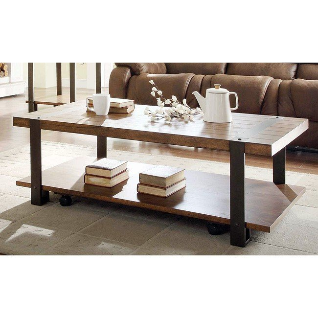 Northwood Rectangular Cocktail Table w/ Casters