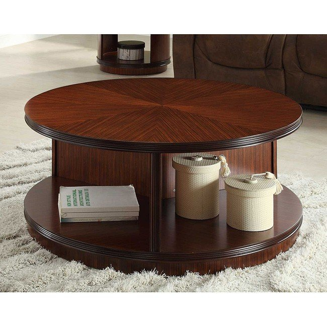 Orlin Round Cocktail Table w/ Casters