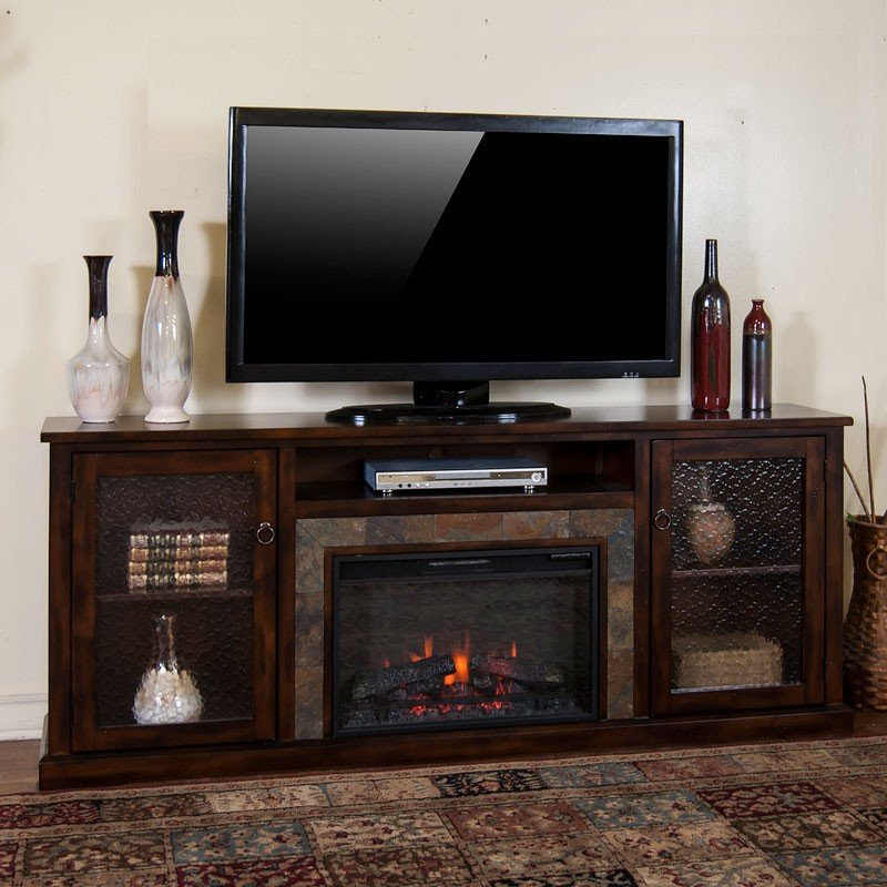 Santa Fe 80 Inch Fireplace Media Console Sunny Designs 1
