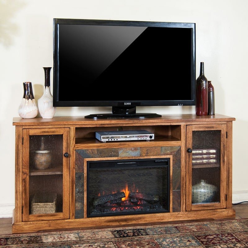 Sedona 70 Inch Fireplace Media Console Sunny Designs