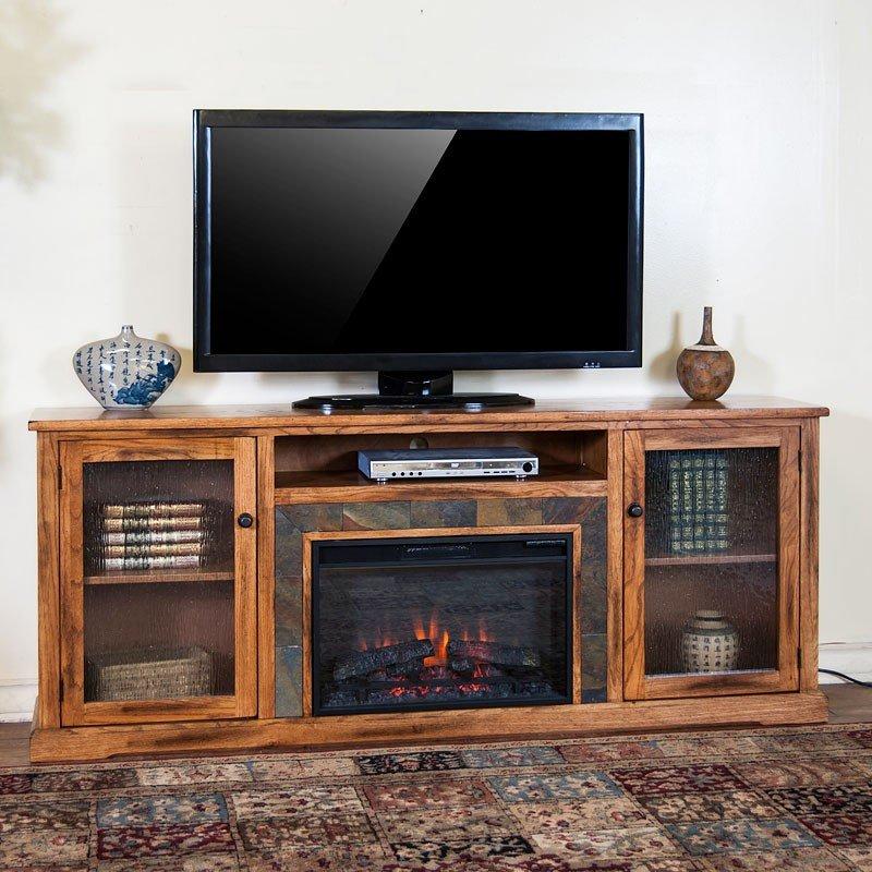 Sedona 80 Inch Fireplace Media Console Sunny Designs