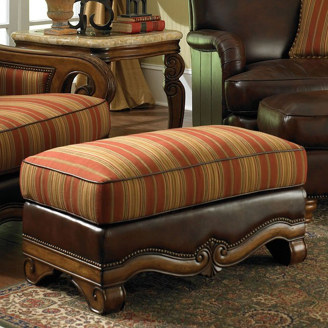 Tuscano Living Room Set (Brick) Aico Furniture