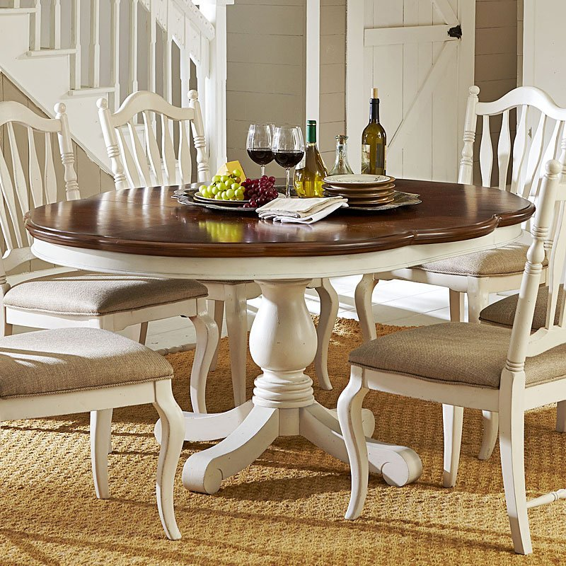 Haven High/Low Dining Table (Buttercream White)