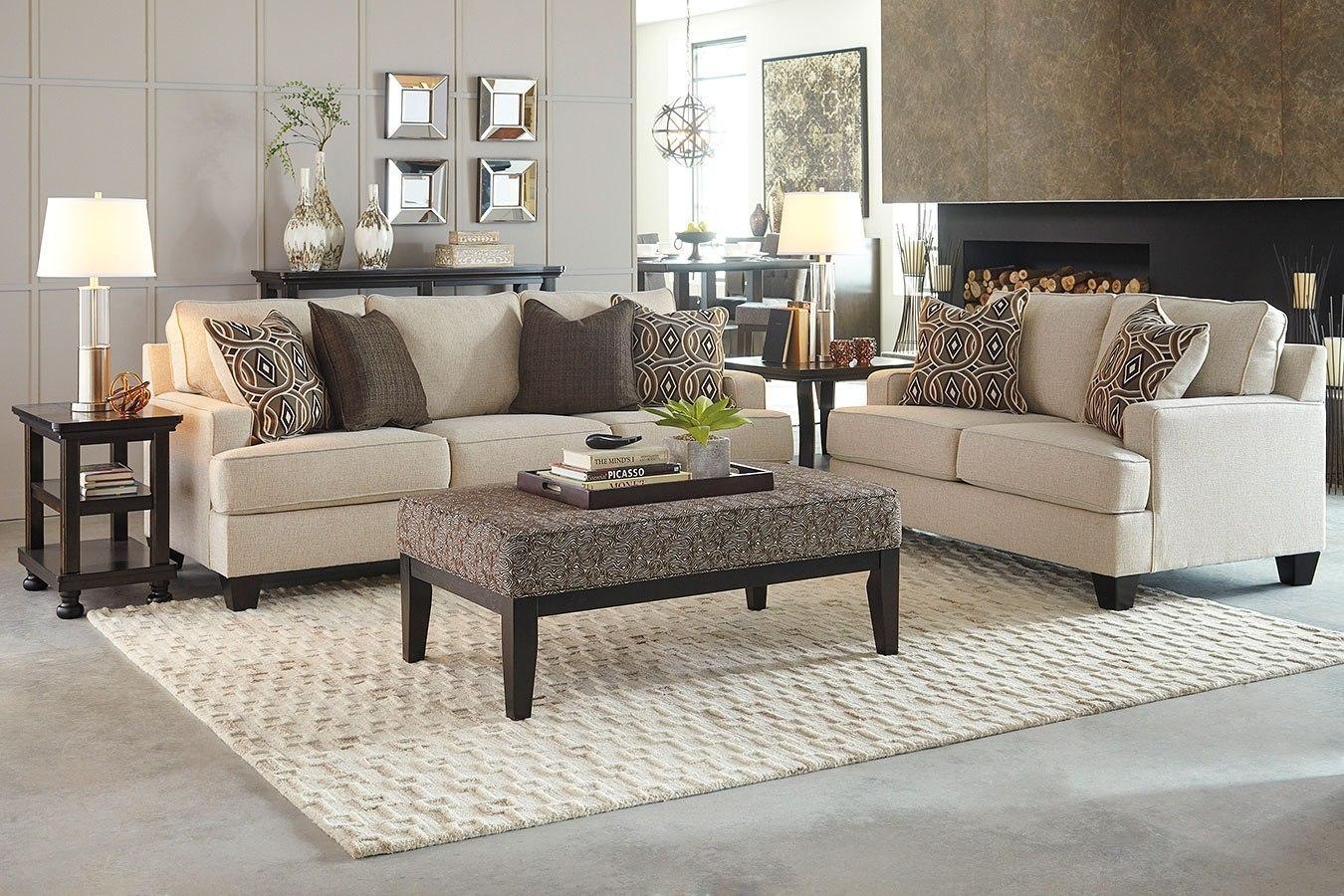 Bernat linen living room set signature design by ashley furniture cart