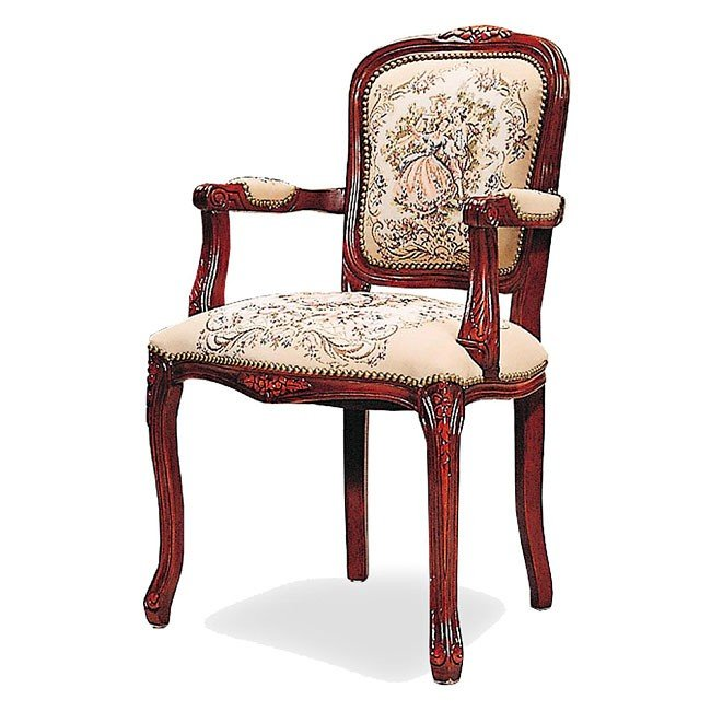 Floral Upholstered Chair (Tapestry)