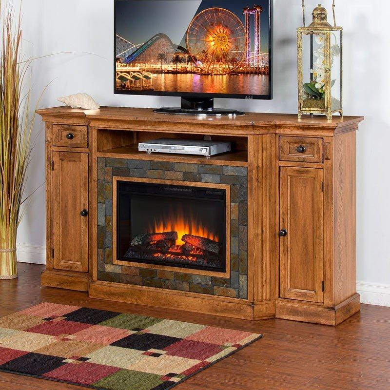 Sedona Fireplace Tv Console Sunny Designs Furniture Cart