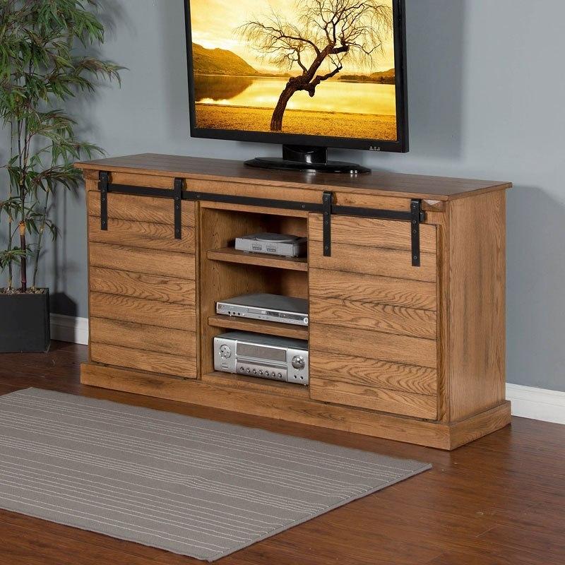 Sedona 65 Inch Barn Door Tv Console Sunny Designs