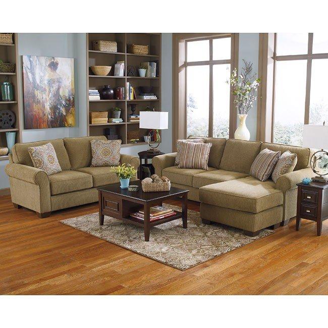 Corridon Burlap Living Room Set