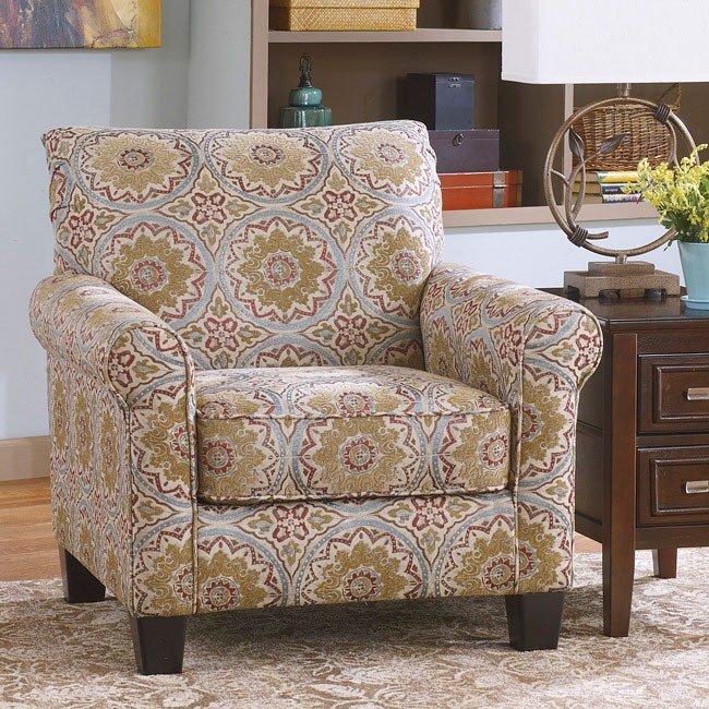Corridon Burlap Accent Chair