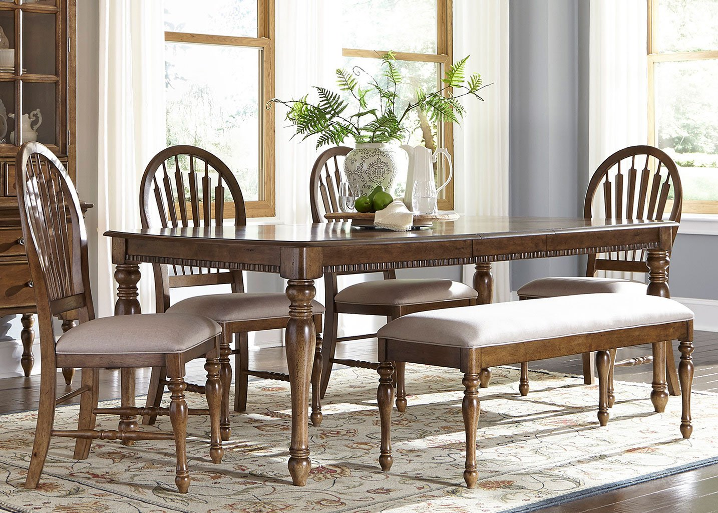Fabulous Barrett Lakes Dining Room Set W Bench Liberty Furniture Caraccident5 Cool Chair Designs And Ideas Caraccident5Info