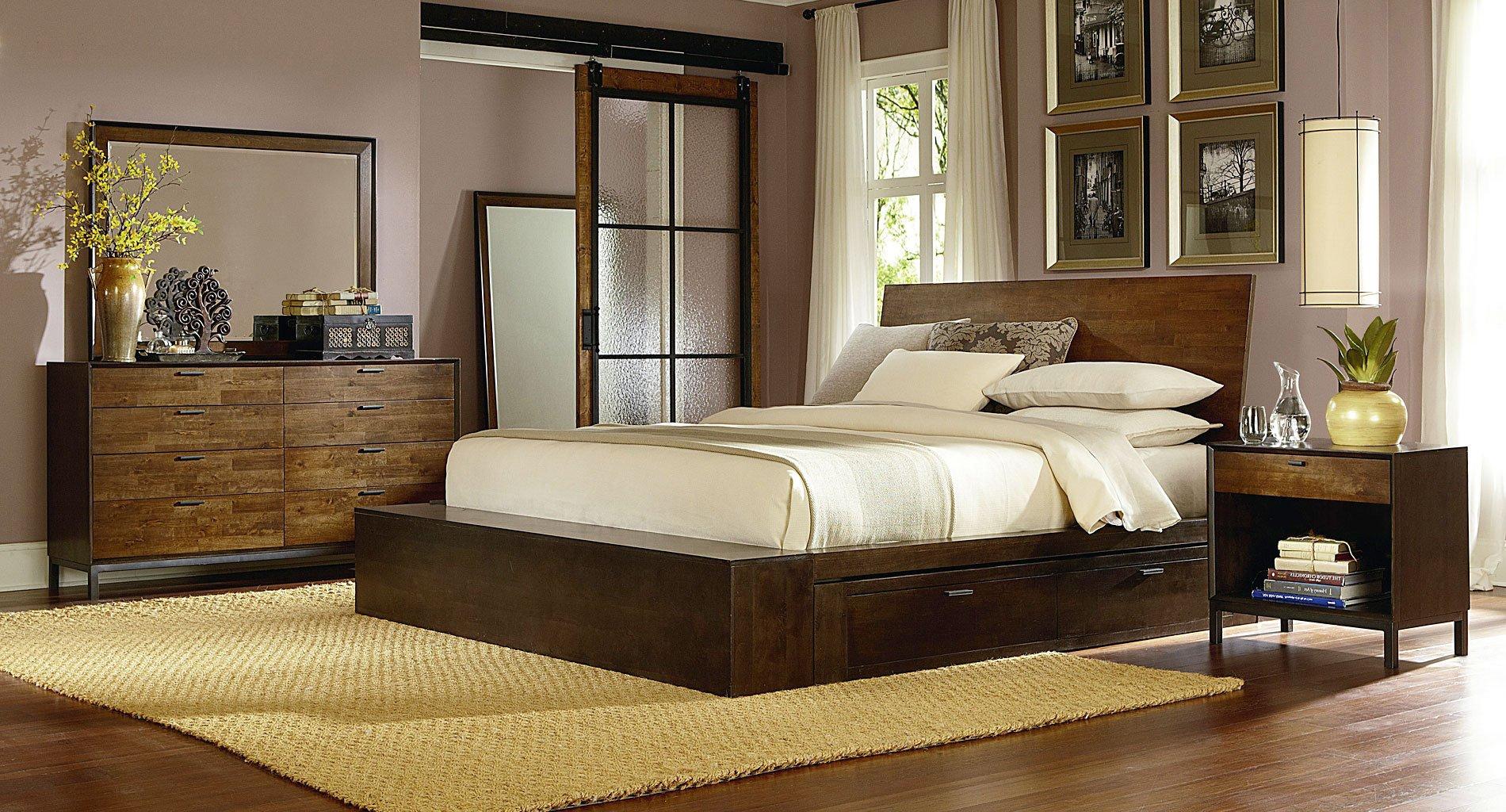 Kateri Platform Bedroom Set W/ One Underbed Storage Unit ...