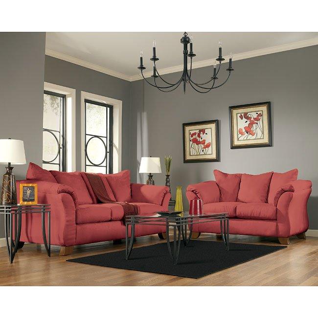 Durapella - Red Living Room Set Signature Design | Furniture ...