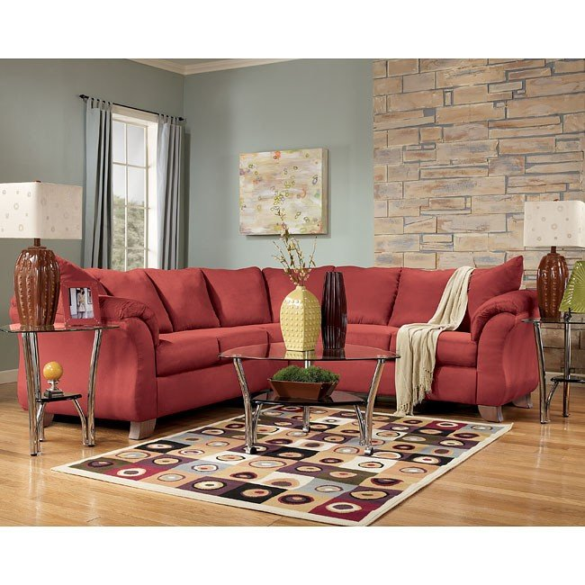 Durapella - Red Sectional