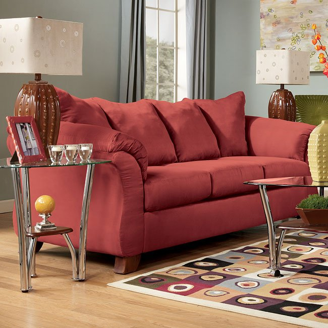 Durapella - Red Full Sofa Sleeper