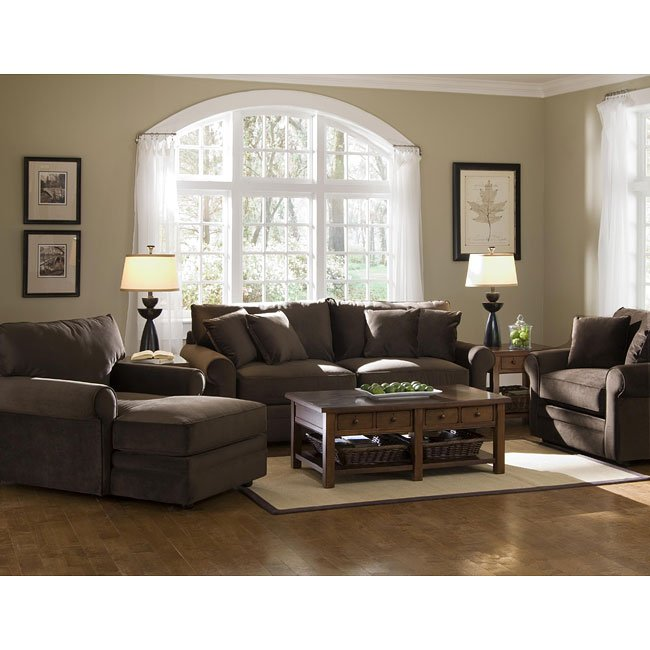 Comfy Living Room Set Belsire Chocolate Klaussner