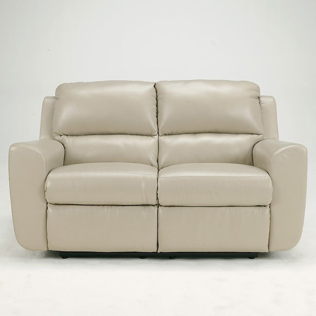 Ledger DuraBlend - Sandstone Reclining Loveseat