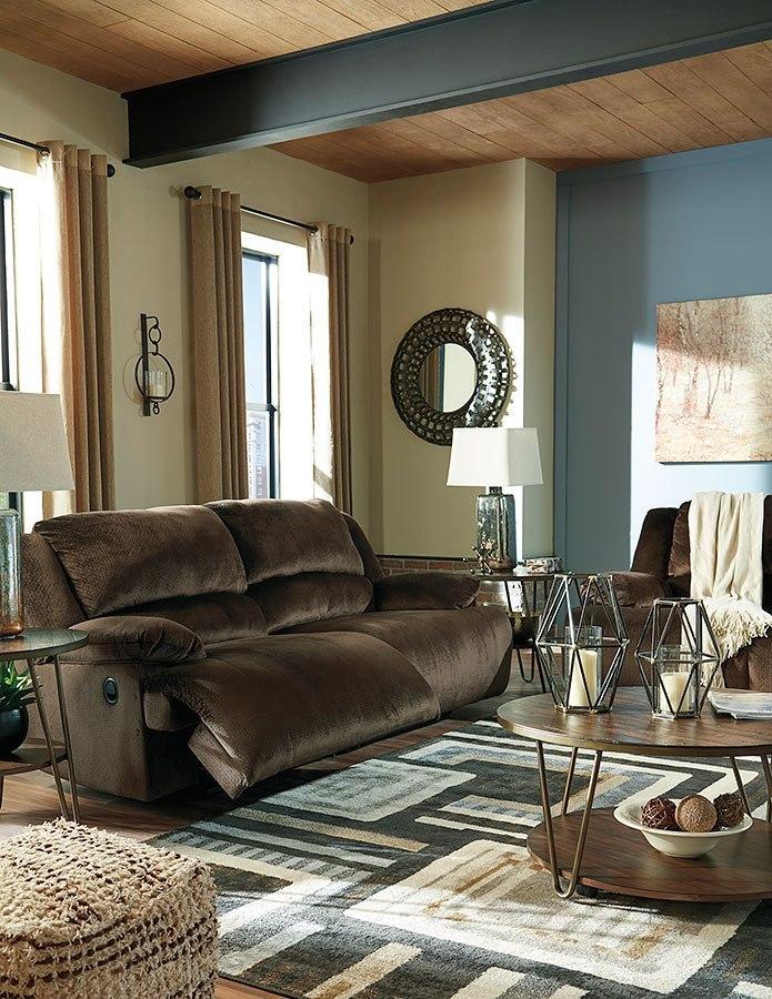 Clonmel Chocolate Reclining Living Room Set Signature