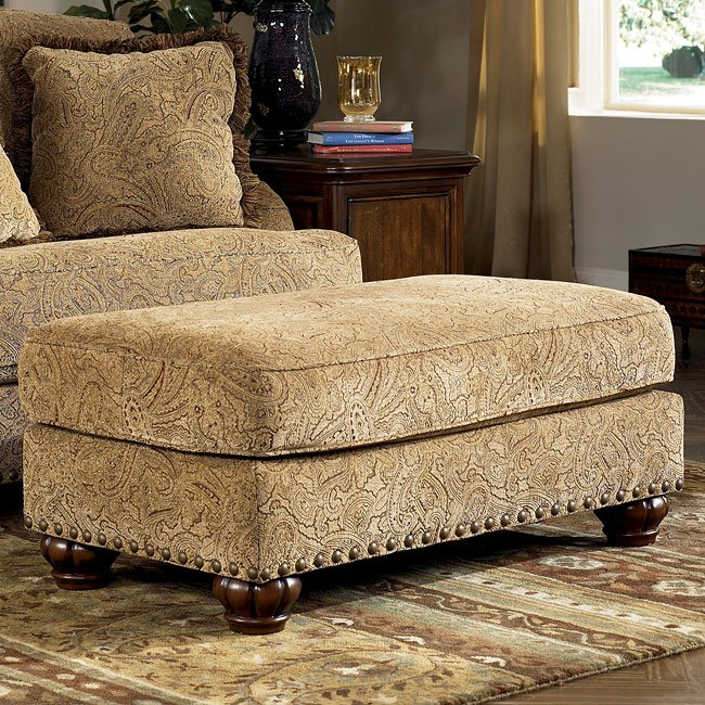 dbfbf8a08853 Stansberry - Vintage Living Room Set · Stansberry - Vintage Ottoman by Signature  Design