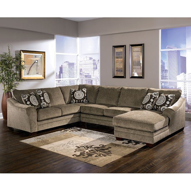 Cosmo - Marble Right Chaise Sectional