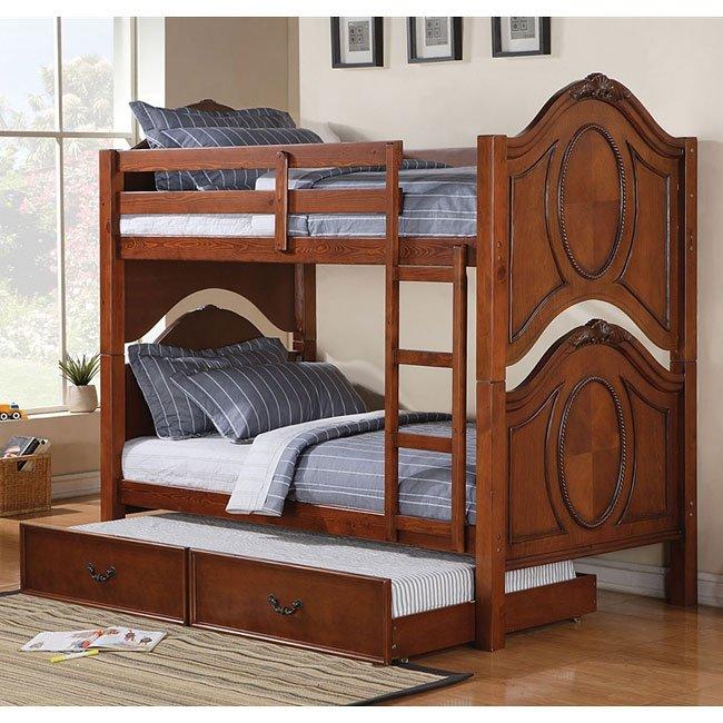 Classique Bunk Bed W Trundle Acme Furniture Furniture Cart