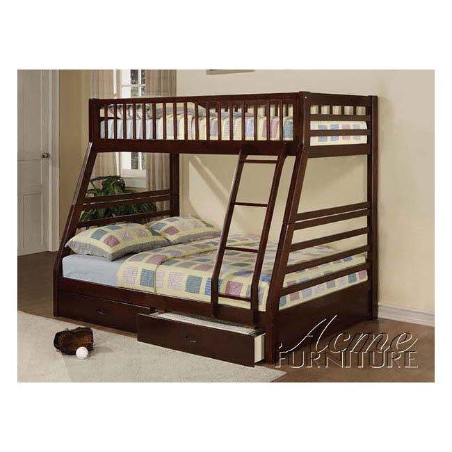 Jason Espresso Bunk Bed With Storage Acme Furniture Furniture Cart