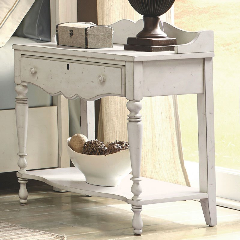 Newport Night Table Antique White American Woodcrafters