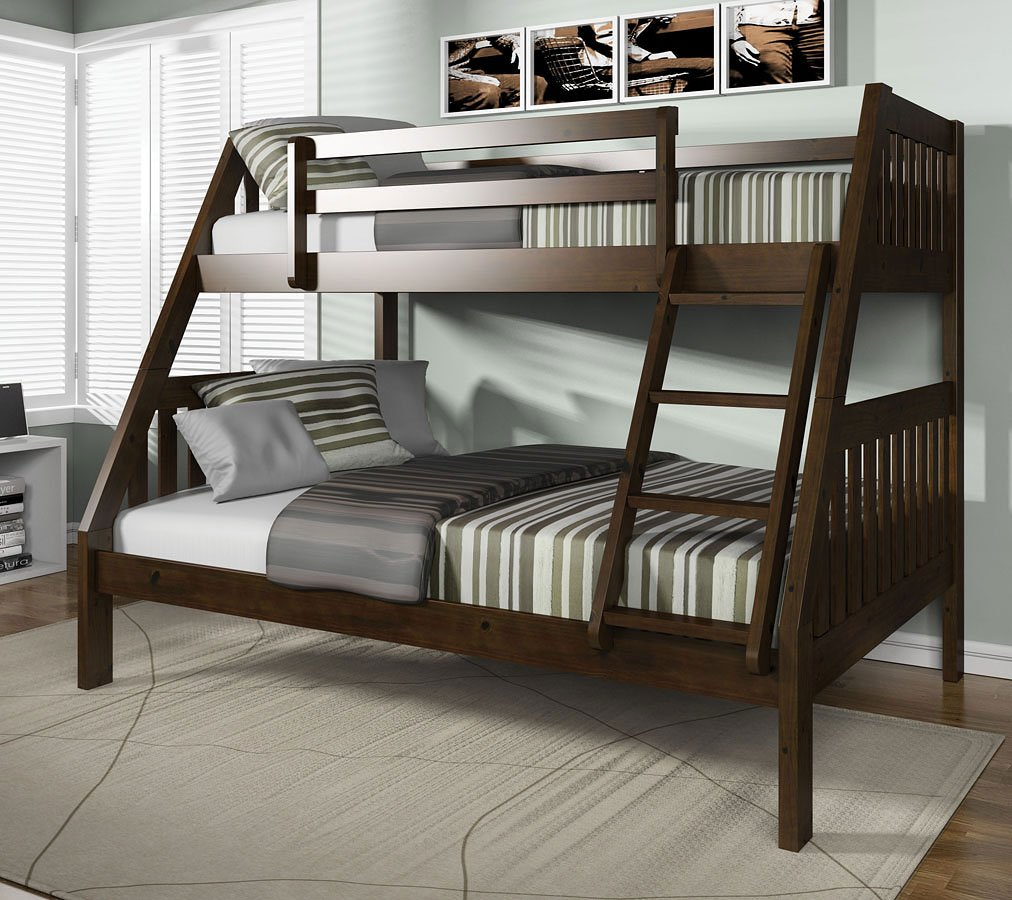 Ryo Twin Over Full Bunk Bed Espresso Acme Furniture Furniture Cart
