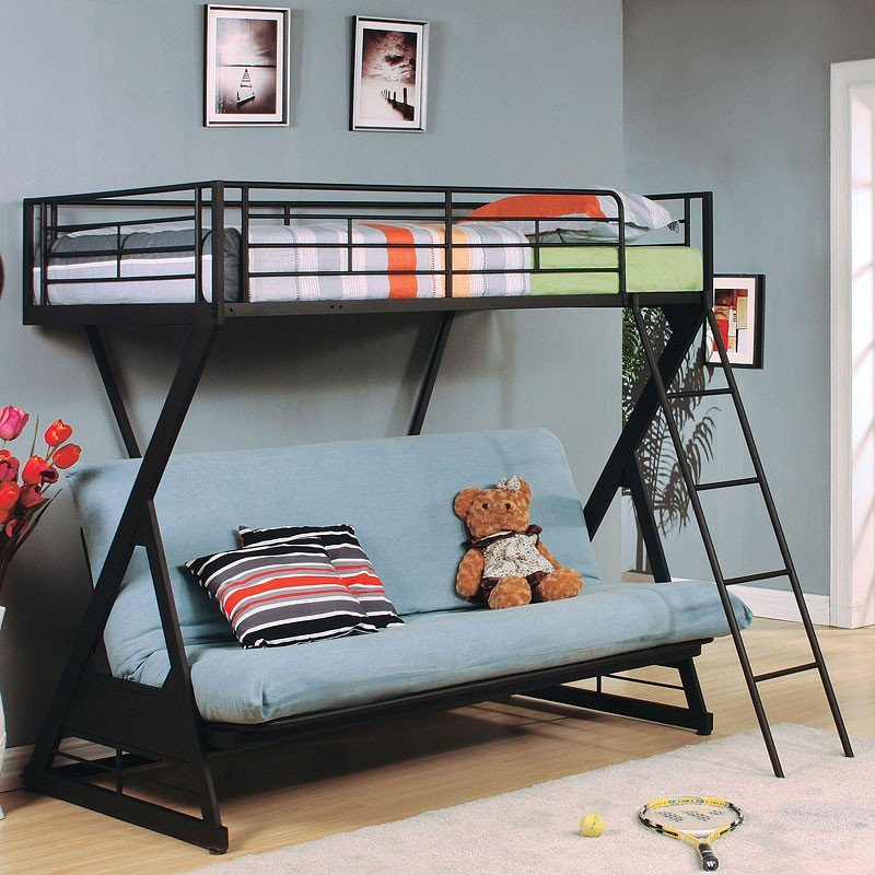 buy online cb537 032c3 Zazie Twin over Full Futon Bunk Bed