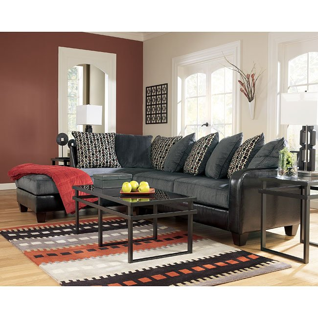 Jersey - Pewter Sectional Living Room Set