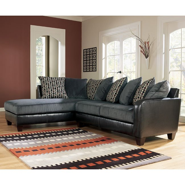 Jersey - Pewter Left Corner Chaise Sectional