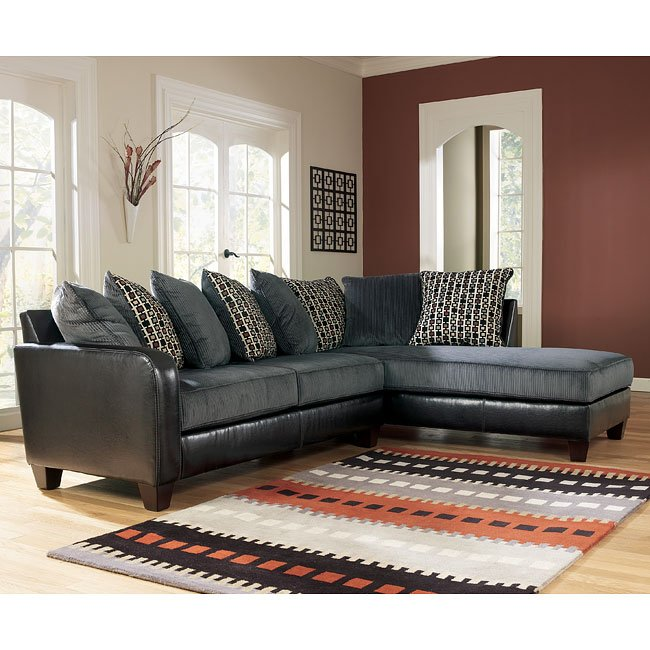 Jersey - Pewter Right Corner Chaise Sectional