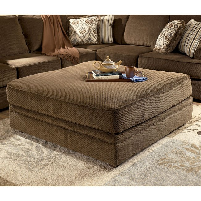 Connally - Chocolate Oversized Accent Ottoman