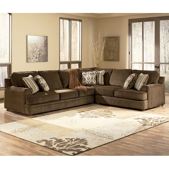 Connally - Chocolate Left Sofa Sectional