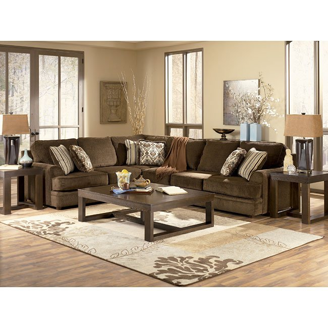 Connally - Chocolate Sectional Living Room Set