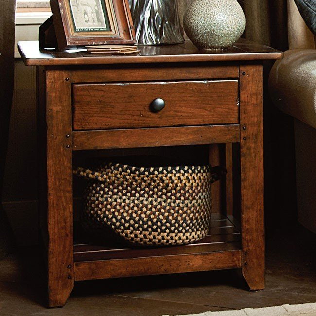 Phenomenal Homecoming Drawer End Table Vintage Cherry Home Interior And Landscaping Fragforummapetitesourisinfo